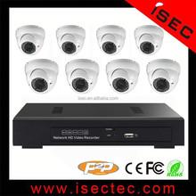 Newest 8CH NVR Kits 720P 1.0MP 20m Night Vision CCTV IP Camera Set Outdoor