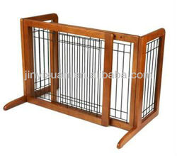 Wire Mesh Dog Fence with Wood Frame / Pet Gate / Home Fence for Dogs