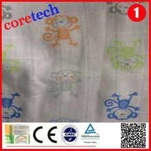 Anti-bacterial breathable thin muslin fabric factory