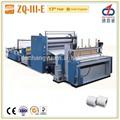 Máquina pequeña ZQ-III-E de fabricación de rollos de papel higiénico con rebobinado
