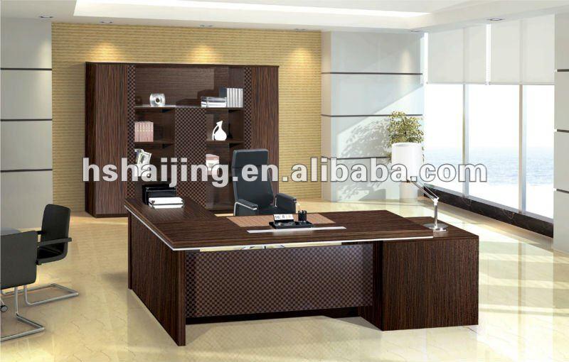 high class office furniture walnut melamine executive desk office desk