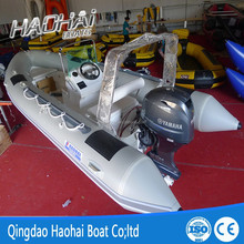 17ft 520cm fiberglass fishing RIB boat with outboard motor