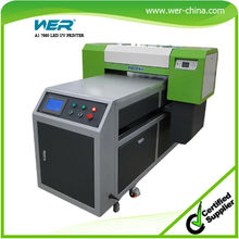 easy-to-use LCD touch panel multi-functional printing capability; phone case, CD, golf ball, etc. a1 size uv led printer