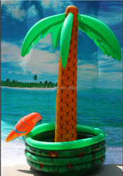 Inflatable palm trees cooler family decoraiton game toys palm trees with parrot