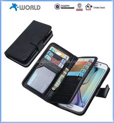 wallet leather flip case for samsung s6 edge