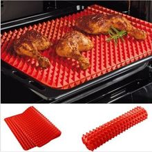Hot selling 1 Pc Red Pyramid Pan Nonstick Silicone Baking Mat Mould Cooking Mat Oven Baking Tray