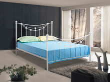 High class White home furniture iron bed