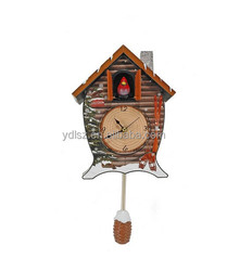 New style Cuckoo Wall Clock with bird come out and singing/sound