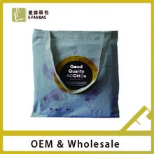 Wholesale shopping bag trendy canvas tote bag
