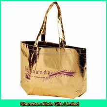 Metallic non woven bag for shopping, fashion laminated non woven bag