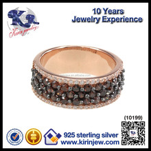 Fashion jewelries gold plated 925 silver china cz rings
