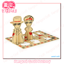 Custom made DIY Puzzle Wooden Greeting card - wood crafts/gifts in laser cut & engraving