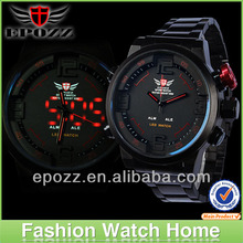 Top Sale 2014 EPOZZ Men Watch Military 3ATM LED Digital Analog Sports Quartz Wristwatch 6 Colors Watch