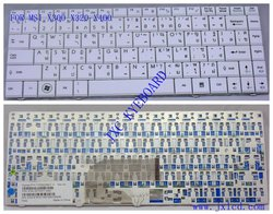 laptop keyboard for MSI X300 X320 X400 THAI white Model V103522BK1TI PN S1N-1ETH311-SA0