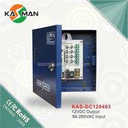 UPS Distribution box 12v power supply battery backup KAS-DC120403