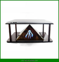 3D Holographic Projection Pyramid for 3.5~6 inch Tablet PC and smartphone Hatsune 3D MV Projector
