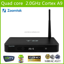 T8 2GB RAM 8GB Flash 4K 3D Smart TV Box Android T8 Quad Core Android 4.4 Smart TV box Android TV Box Digital Satellite Receiver