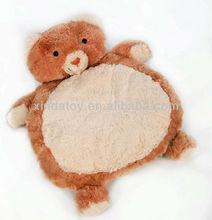 Brown bear plush baby play mat