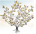 2015 las ventas caliente forjado de hierro adorno del hogar de la pared colgando del árbol de la vida colgante encantos