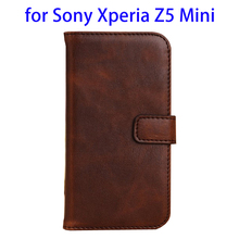 alibaba innovative products men\s wallet genuine leather wallet cover for Sony Xperia Z5 Mini