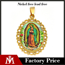Factory Price Alibaba Wholesale Stainless Steel Religious Pendant with Icon Virgen Charms for women