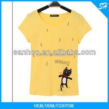 Popular Design High Quality Customized Women Tshirt In Lower Quantity