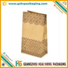 FSC greaseproof logo printing cheap kraft paper sandwich bag wholesale