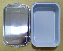 Customized Disposable Airline aluminum foil container with a lid