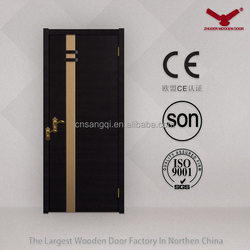 Black Painting Interior Wooden Doors, Environmental Room Doors Design Customized