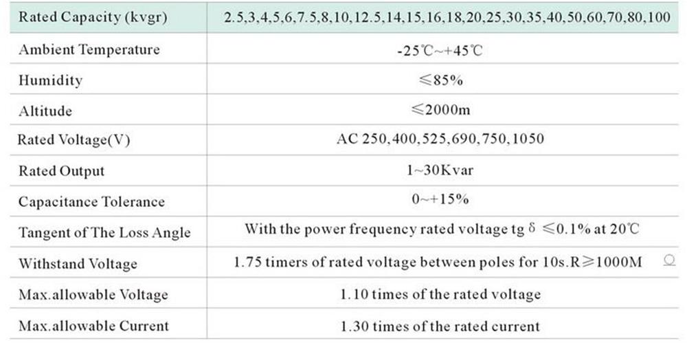 BSMJ self-healing low voltage shunt capacitor