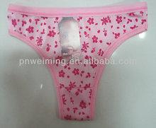 cotton good quality manufacturer cheap supply flower panties girl