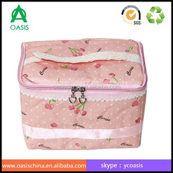 Cute make up non woven fabric storage box with lid