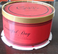 foldable birthday cake box, folding birthday cake paper box with drum/ stock birthday box LZY2013112901