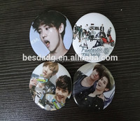 Tin Plate/Button Badge with Famous Super Star Picture