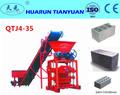 Precio bajo QTJ4-35 semi eléctrico sencillo automática línea de producción de ladrillo, equipo de china para la pequeña empresa