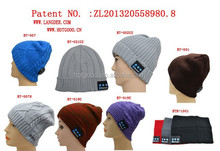 baggy beanie knitted cap hat with wireless bluetooth functions for promotion gift items