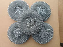 Galvanized iron dish copper scourer/steel wool mesh scrubber