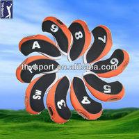 Neoprene Leather Golf Iron Club Headcover