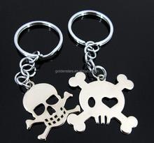 2015 Special design festival gifts with metal key finder skeleton shape keychain for Halloween key ring key holder for Halloweer
