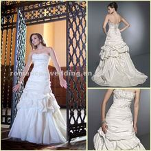 KW0030 Graceful Draped Beaded Bridal Fabric Love Forever Wedding Dress