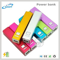 Wholesale Cell Phone Portable Solar Charger Lipstick Power Bank 2600mah