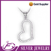 Customized cubic zircon heart shape sterling silver egyptian pendant
