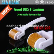 mini rouleau derma rouleau derma titane drs avec 200 aiguilles équipement de beauté