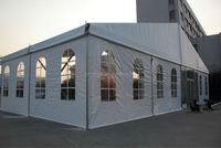 Aluminum frame tent with glass door