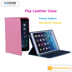 Tablet case super slim leather flip case for iPad mini 3, smart case for iPad