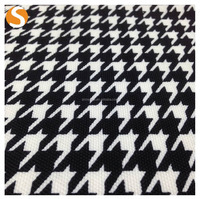 Wholesale Factory Price Houndstooth pattern Jacquard fabric for woman dress
