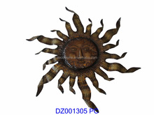Metal Sunface Wall Art Decor