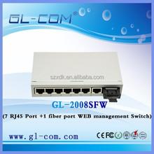 Fiber Optic Equipment Web Smart/Management ethernet 8 port switch