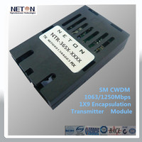 1x9 1610nm 80km optical receiver for networking switches of hd dvb s2 transmitter