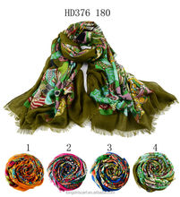 HD376 180 kids party wear dresses for girls hijab shawl and scarves European style supplier alibaba china